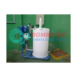 Bomba de preparação com sistema de envase