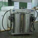 Unidade de abastecimento de álcool e gasolina para laboratório