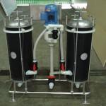 Bomba filtro com 2 reservatórios filtrantes com disco de 240 mm