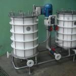 Bomba filtro com 2 reservatórios filtrantes com discos de 400 mm