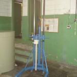 Carrinho em aço carbono para bomba tambor