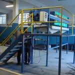 Estrutura em aço carbono e pintura epóxi para filtro prensa