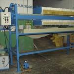 Filtro prensa com estrutura metálica para tambor